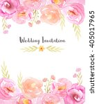 wedding invitation template... | Shutterstock . vector #405017965