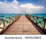 pier on prison island  zanzibar ... | Shutterstock . vector #405025801