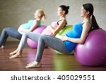 exercise with ball | Shutterstock . vector #405029551