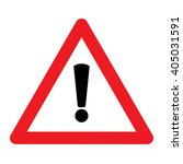 warning sign vector | Shutterstock .eps vector #405031591