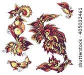 floral design elements for... | Shutterstock .eps vector #405032461