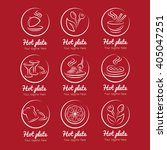 restaurant and food court logos | Shutterstock .eps vector #405047251