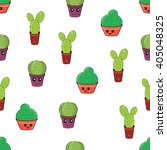 seamless pattern with funny... | Shutterstock .eps vector #405048325
