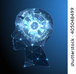 creative brain concept... | Shutterstock .eps vector #405048499