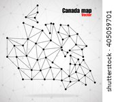 abstract polygonal canada map... | Shutterstock .eps vector #405059701