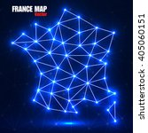 abstract polygonal france map... | Shutterstock .eps vector #405060151