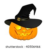 the carved face of pumpkin... | Shutterstock .eps vector #40506466