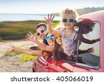 portrait of a smiling family... | Shutterstock . vector #405066019