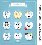 teeth set. dental collection... | Shutterstock .eps vector #405074089