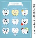 teeth set. dental collection... | Shutterstock .eps vector #405074089