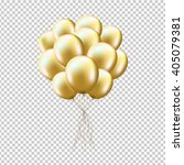 golden balloons sheaf  isolated ... | Shutterstock .eps vector #405079381
