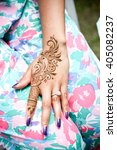 tattoo henna for party... | Shutterstock . vector #405082237
