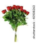 A Bouquet Of Roses Isolated On...