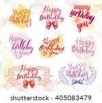 happy birthday tags logo on the ... | Shutterstock .eps vector #405083479