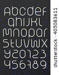 set of round style alphabet... | Shutterstock .eps vector #405083611
