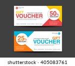 discount voucher template ... | Shutterstock .eps vector #405083761