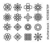 arabic ornament icon  vector set | Shutterstock .eps vector #405088789