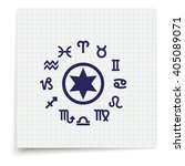 circle with signs of zodiac. | Shutterstock . vector #405089071
