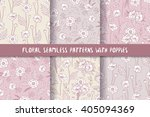 set of seamless patterns in... | Shutterstock .eps vector #405094369