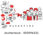 marketing team on white... | Shutterstock .eps vector #405096331