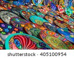 souvenirs on the market at... | Shutterstock . vector #405100954