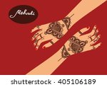 element yoga mudra hands with... | Shutterstock .eps vector #405106189