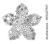 Vector Decorative Flower Made...