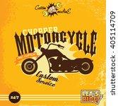 custom motorcycle | Shutterstock .eps vector #405114709