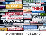 newspaper and magazine... | Shutterstock . vector #40512640