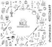 Hand Drawn Doodle Magic Set....