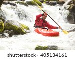 A Whitewater Kayaker