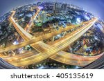 aerial view of the express way... | Shutterstock . vector #405135619