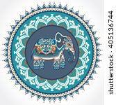 vintage graphic vector indian...   Shutterstock .eps vector #405136744