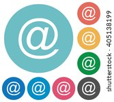 flat email symbol icon set on...