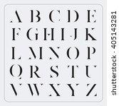 vector minimalist alphabet set | Shutterstock .eps vector #405143281