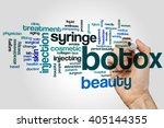 botox word cloud concept | Shutterstock . vector #405144355