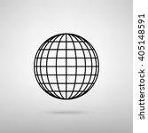 earth globe sign | Shutterstock .eps vector #405148591