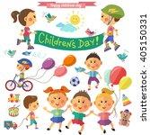 happy children. children day.... | Shutterstock .eps vector #405150331