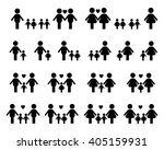 gay and lesbian family vector... | Shutterstock .eps vector #405159931