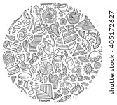 line art vector hand drawn... | Shutterstock .eps vector #405172627