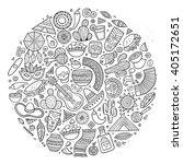 line art vector hand drawn... | Shutterstock .eps vector #405172651