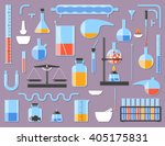 set of chemical laboratory... | Shutterstock .eps vector #405175831