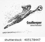 abstract football goalkeeper... | Shutterstock .eps vector #405178447