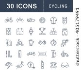 set vector line icons with open ... | Shutterstock .eps vector #405179491