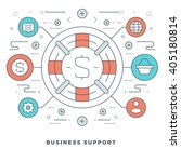 flat line business concept... | Shutterstock .eps vector #405180814