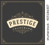 royal logo design template... | Shutterstock .eps vector #405186307