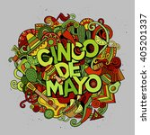 cinco de mayo. cartoon vector... | Shutterstock .eps vector #405201337