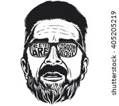 Bearded Hipster Face Vector...