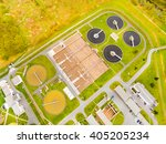 aerial view to biogas plant... | Shutterstock . vector #405205234