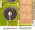 aerial view to biogas plant... | Shutterstock . vector #405205237